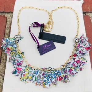 J.Crew Floral Fabric Chain Necklace Liberty® Print
